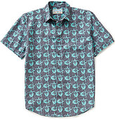 Margaritaville Short-Sleeve Sea Turtle Print Linen Shirt
