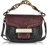 Pierre Hardy Burgundy Grainy Leather Mini AlphaVille Shoulder Bag