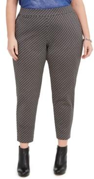 Michael Kors Michael Plus Size Printed Pull-On Ponte Pants