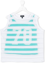 Diesel mesh stripe layer tank top