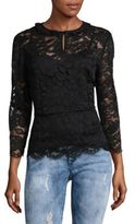 Marc by Marc Jacobs Embroidered Floral Lace Blouse
