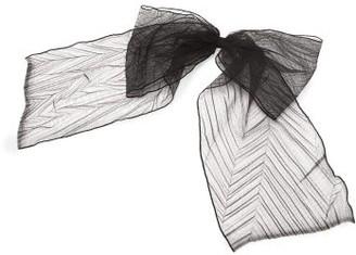 Maison Michel Wicole Pleated-tulle Bow Hair Clip - Black
