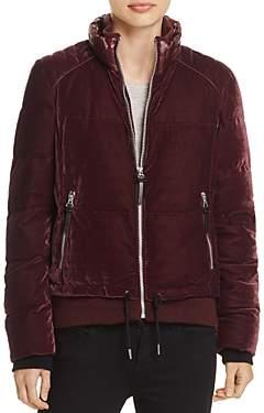Andrew Marc Vita Velvet Puffer Coat