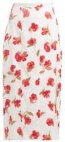 Altuzarra Stefano Floral Devore-chiffon Midi Skirt - Womens - White Multi