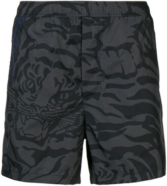 Valentino Tiger Camouflage swim shorts