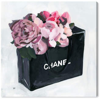 "Oliver Gal Peony Bag Canvas Art, 12"" x 12"""