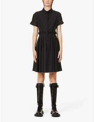 Alexander McQueen Pleated cotton mini dress