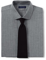Lands' End Men's Tailored Fit Pattern Brushed Twill Dress Shirt-White