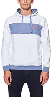 Esprit edc by Men's 088cc2j005 Sweatshirt, (White 100), Large