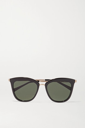 Le Specs Caliente Cat-eye Acetate And Gold-tone Sunglasses - Black