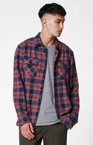 RVCA Lowland Plaid Flannel Long Sleeve Button Up Shirt