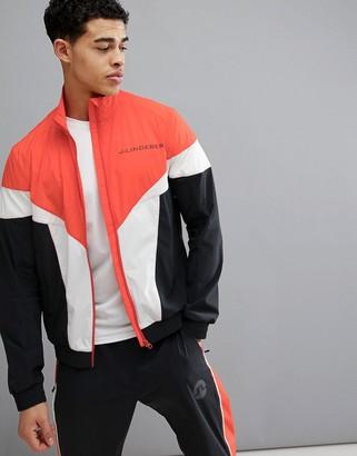 J. Lindeberg Activewear Retro Softshell Jacket In Red