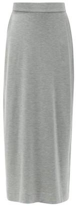 The Row Bako Modal-blend Jersey Midi Skirt - Light Grey