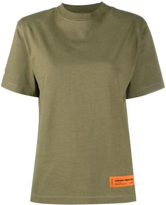 Heron Preston front logo patch round neck T-shirt