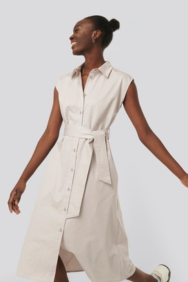 NA-KD Organic Sleeveless Shirt Dress