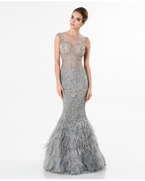 Terani Couture Gleaming Nude Illusion Trumpet Gown 1521GL0816A