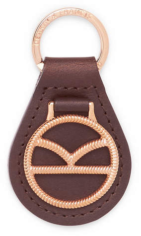 Deakin & Francis Kingsman Leather and Rose Gold-Plated Key Fob - Men - Rose gold