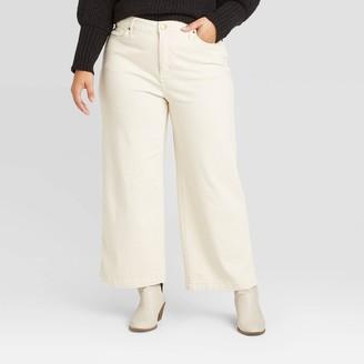 Universal Thread Women's Plus Size High-Rise Wide Leg Cropped Jeans - Universal ThreadTM