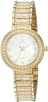 Adee Kaye Women's Quartz Brass Dress Watch, Color:Gold-Toned (Model: AK9125-LG)