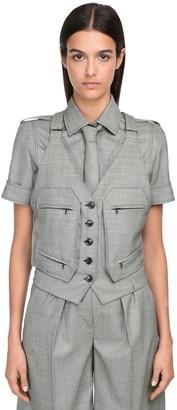 Max Mara Wool Grisaglia Vest