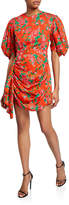 Rhode Resort Pia Printed Puff-Sleeve Short Dress