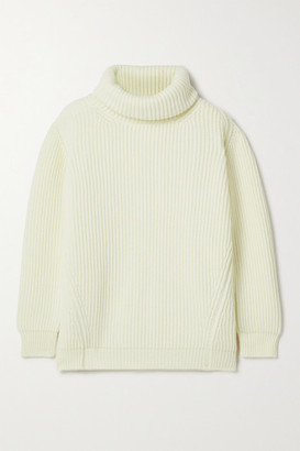 &Daughter Inver Ribbed Merino Wool And Cashmere-blend Turtleneck Sweater - Cream