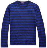 Ralph Lauren Purple Label Long-Sleeve Striped Crewneck