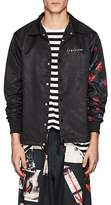 Yohji Yamamoto Men's Rose- & Skull-Print Coach's Jacket