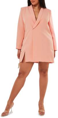 Missguided Plus Oversize Blazer Mini Dress