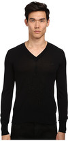 Vivienne Westwood Diamond Embroidered V-Neck Sweater