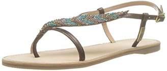 Les Tropéziennes Women's Oktavi Sling Back Sandals, Brown (Bronze 182)