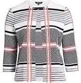 Misook Misook, Plus Size Women's Mixed Lines & Plaid Knit Jacket