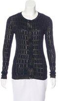 Versace Metallic Long Sleeve Cardigan