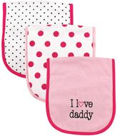 "Luvable Friends ""I Love Daddy"" 3-Pack Burp Cloth"