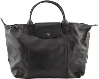 Longchamp Top Handle Bag Le Pliage Cuir