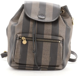 Fendi Pequin Front Pocket Backpack Coated Canvas Small