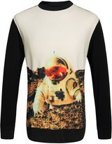 SSLR Men's Crewneck Spaceman Printed Sweatshirt