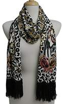 Ed Hardy Womens Skull Knit Scarf - Charcoal/Black