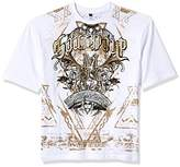 Southpole Men's Big and Tall BT Short Sleeve HD, Foil, Flock Print All Over Graphic Tee