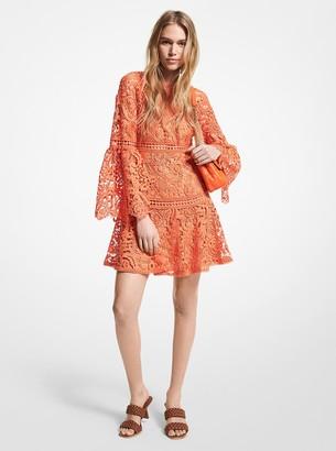 MICHAEL Michael Kors Paisley Lace Bell Sleeve Dress