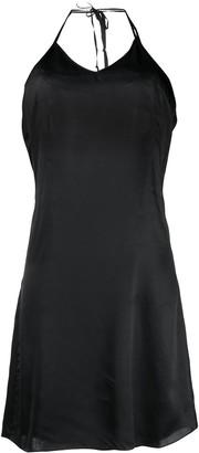 Almaz Layered Halterneck Slip Dress