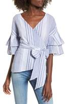 Socialite Tier Sleeve Wrap Top