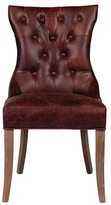 Joseph Allen Mustang Tufted Leather Arm Chair