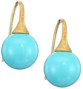 Marco Bicego Africa 18K Yellow Gold & Turquoise Dangle Earrings