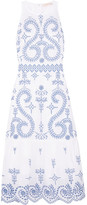 Tory Burch Mariana Embroidered Cotton Midi Dress - White