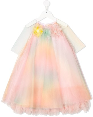 Pamilla Floral-Applique Tulle Dress