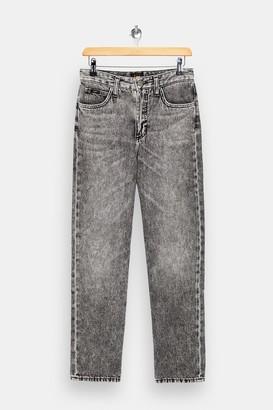 Lee Womens Grey Regular Straight Jeans - Grey