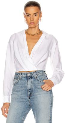 Marissa Webb Maxwell Linen Shirt in Linen White | FWRD