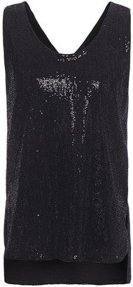 Giorgio Armani Flocked Sequined Stretch-jersey Tank