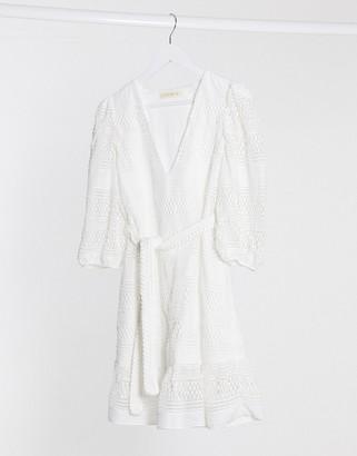 Stevie May august short sleeve mini dress in white